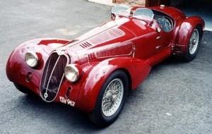 ретро автомобиль Альфа-Ромео 8C 2900