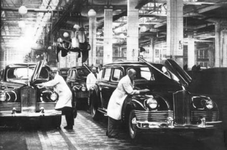 Конвейер завода Паккард