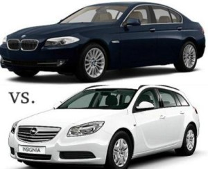 Opel Insignia 2.0 Turbo ECOTEC vs BMW 520D