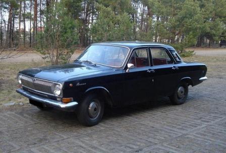 Черная Волга ГАЗ 24