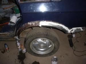 Ремонт задних арок и ремонт коррозии кузова