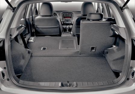 Багажник Citroen C4 в максимальной и базовой комплектации