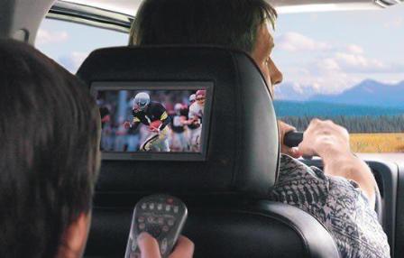 Автомобильный телевизор в подголовнике