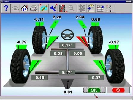 Программа для определения развал-схождения колес