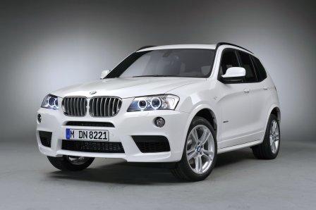Белый BMW X3 2011