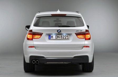 Новый BMW X3 2011 вид сзади