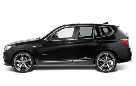 Черный BMW X3 2011