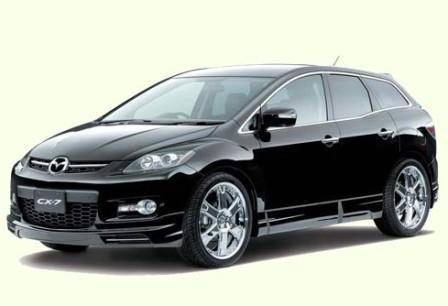 Черный Mazda CX7