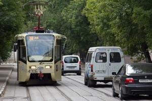 Выезд на трамвайные пути