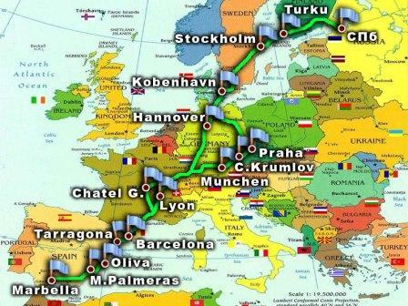 Путешествие по Европе на автомобиле