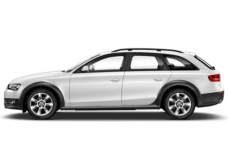 Вид сбоку Audi A4 Allroad Quatro