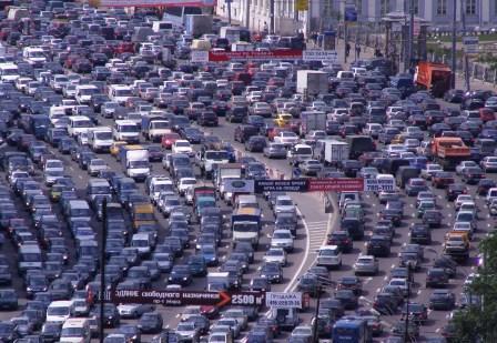 Гигантская автомобильная пробка