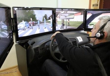 Тренажер для подготовки водителей