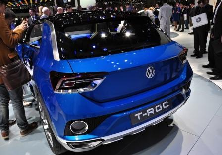 Концепт-кар Volkswagen T-Roc на Женевском автосалоне 2014