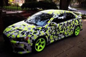 Изменение цвета автомобиля