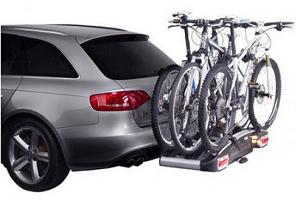 Перевозка велосипедов на фаркопе автомобиля