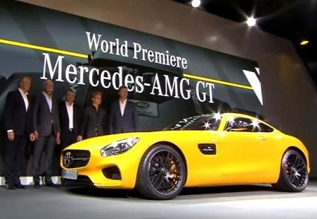 Презентация Mercedes AMG GT на Парижском Автосалоне 2014