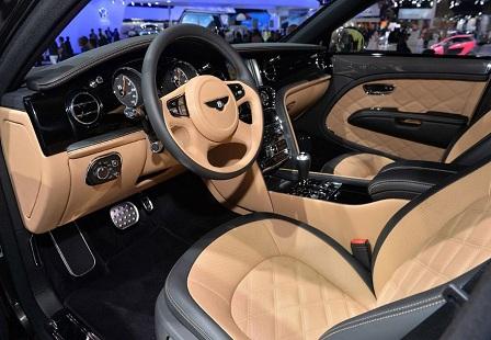 Салон Bentley Mulsanne Speed на Парижском Автосалоне 2014