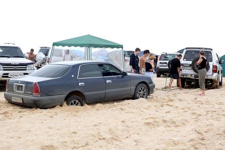 Застрял в песке