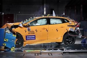 Краш-тест на безопасность Volvo