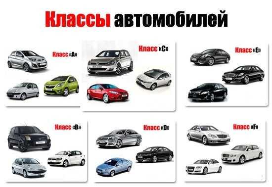 Классы автомобилей