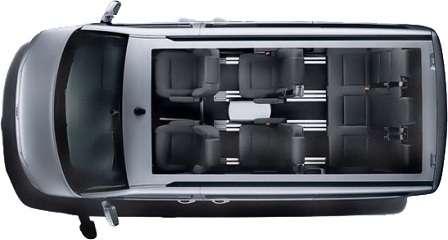 Volkswagen Multivan вид сверху
