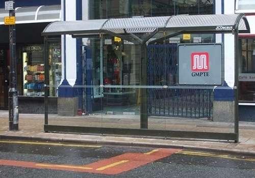 Развернутая автобусная остановка