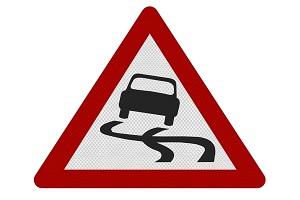 Занос и вращение на скользкой дороге