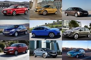 Автомобили B-класса Lada Granta, Hyundai Solaris и Volkswagen Polo