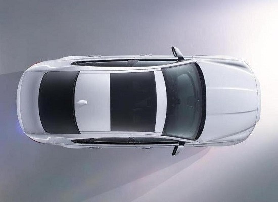 Jaguar XF 2015 сверху