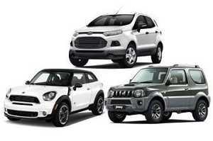 Миникроссоверы: Ford EcoSport, Mini Cooper Paceman, Suzuki Jimny
