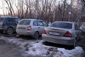Автомобиль после стоянки