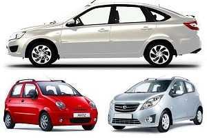 Автомобиль с механической коробкой передач Lada Granta, Lifan Smily, Ravon Matiz