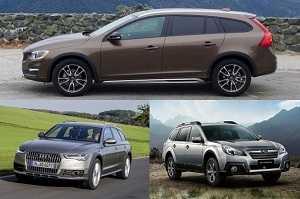 Универсалы Volvo V60 Cross Country, Subaru Outback, Audi A6 Allroad
