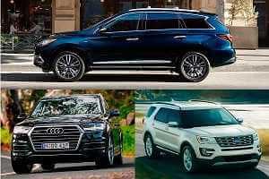 Большие автомобили Ford Explorer, Infiniti QX60, Audi Q7