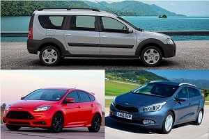 Универсалы Lada Largus Cross, Kia Ceed, Ford Focus