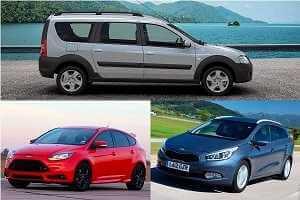 Универсалы Lada Largus Cross, Kia Ceed, Ford Focus