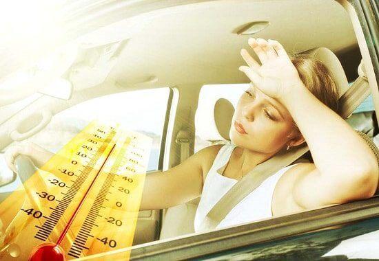 Жара в машине