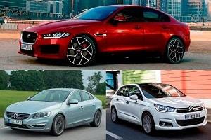 Автомобили с бензиновыми турбомоторами Citroen C4, Volvo S60, Jaguar XE