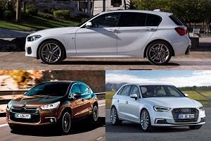 Хэтчбеки C-класса Audi A3,Citroen DS4, BMW 1 Series