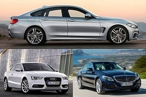 Автомобили сегмента D: Audi A5 Coupe, BMW 4 Series Gran Coupe, Mercedes-Benz С 180