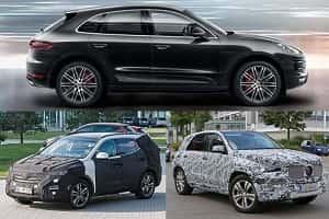 Новые кроссоверы 2018 года: Hyundai Santa Fe, Porsche Macan, Mercedes-Benz GLE