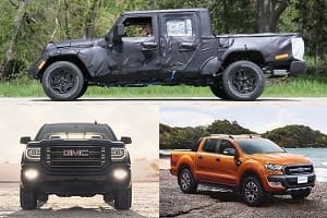 Пикапы 2018 года GMC Sierra 1500, Jeep Gladiator, Ford Ranger