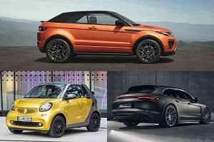 «Внеклассные» автомобили Range Rover, Porsche, Smart