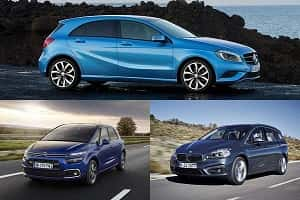 Компактвэны Mercedes-Benz B180, Citroen C4 Picasso, BMW 2 Series Active Tourer