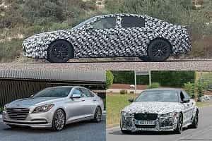 Седаны бизнес-класса 2018 года Lexus ES, Jaguar XEL, Hyundai Genesis