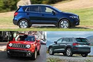 Кроссоверы с двигателями 1,4 литра Jeep Renegade, Suzuki SX4, Skoda Kodiaq