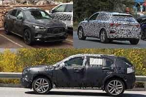 Компактные люксовые кроссоверы 2018 года Audi Q3, Cadillac XT4, Infiniti QX50