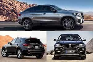 Купе-кроссоверы Mercedes-Benz GLE Coupe, Infiniti QX70, BMW X6