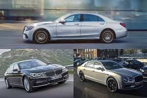 Представительские седаны 2018 года BMW 7 Series, Mercedes-Benz S-Class, Bentley Continental Flying Spur